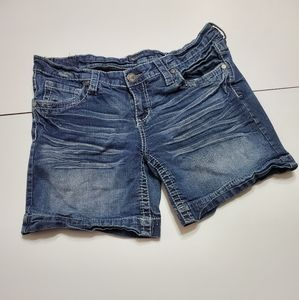Underground soul women's size 11 blue Jean shorts